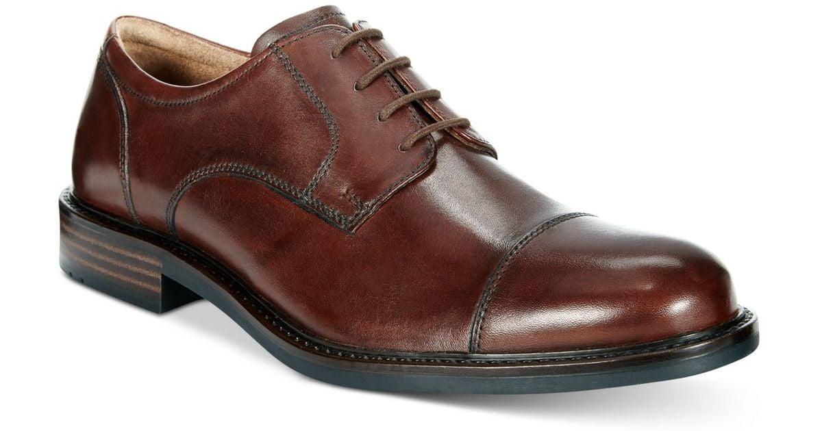 Johnston & murphy Men's Tabor Cap Toe Oxfords in Brown for ...