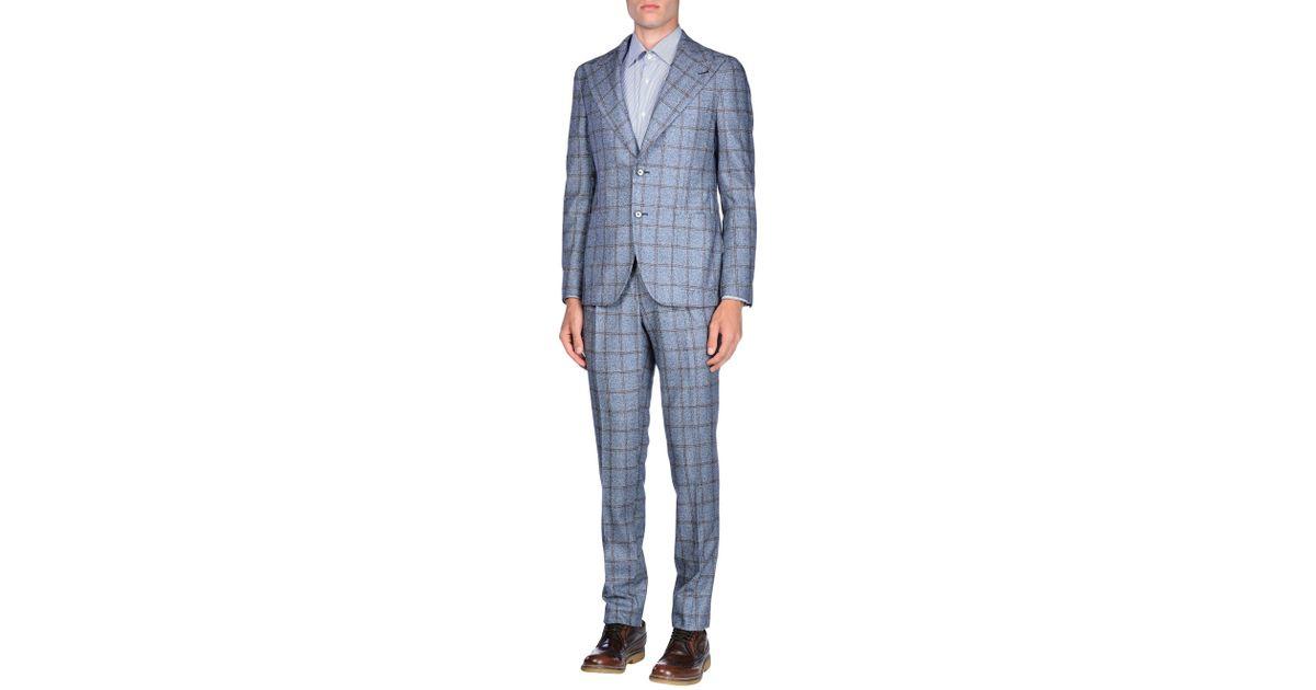 522b447b168c Tagliatore Suit in Gray for Men - Lyst