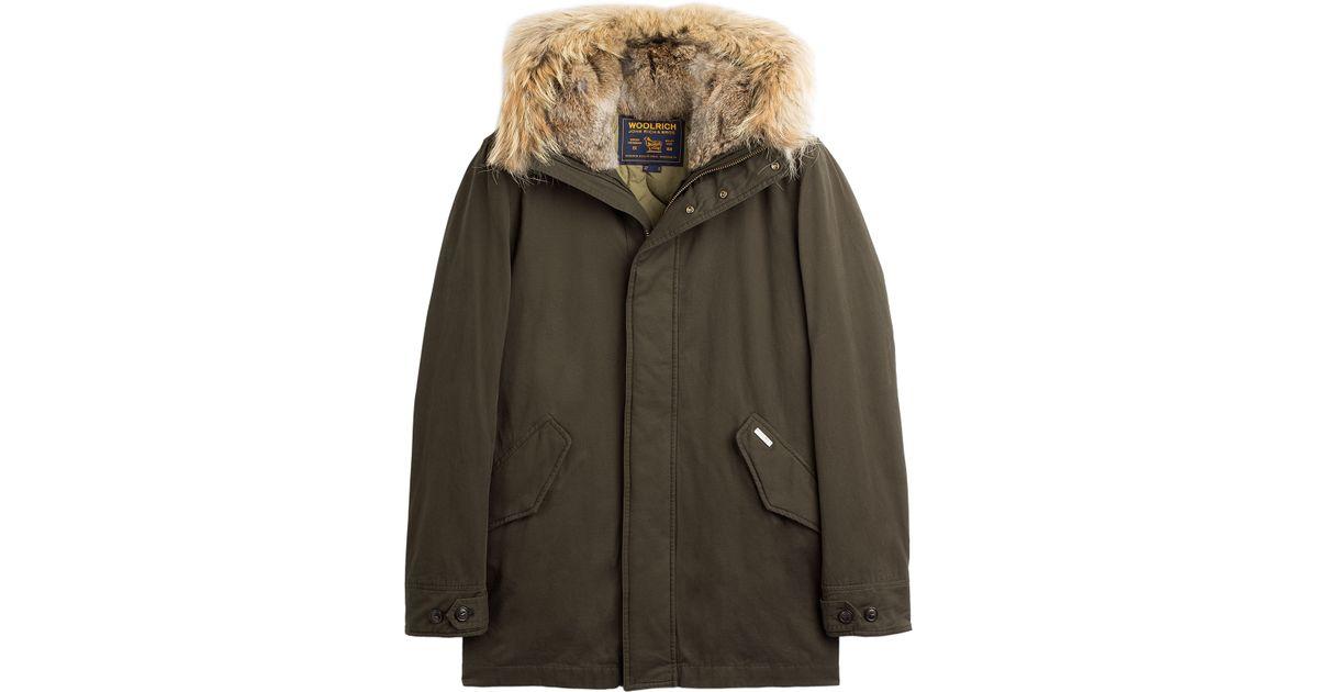 Lyst - Woolrich Winter Cotton Eskimo Coat in Green for Men