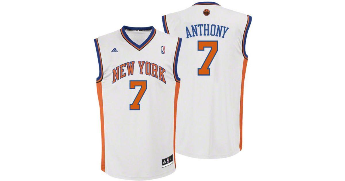 Lyst - adidas Kids  Carmelo Anthony New York Knicks Revolution 30 Jersey in  White for Men ebd84736b