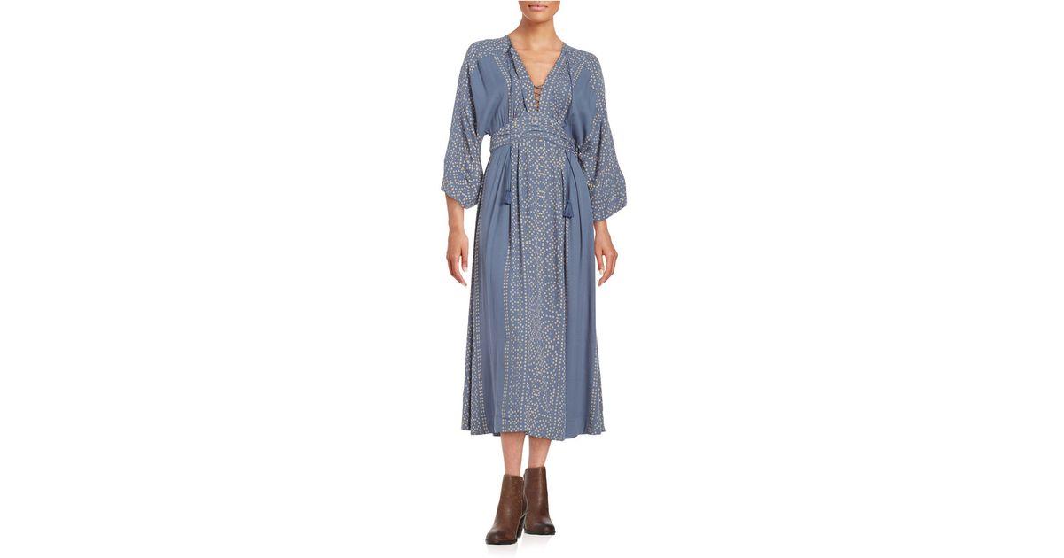a35c1826ed20d Free People Modern Kimono Dress in Blue - Lyst