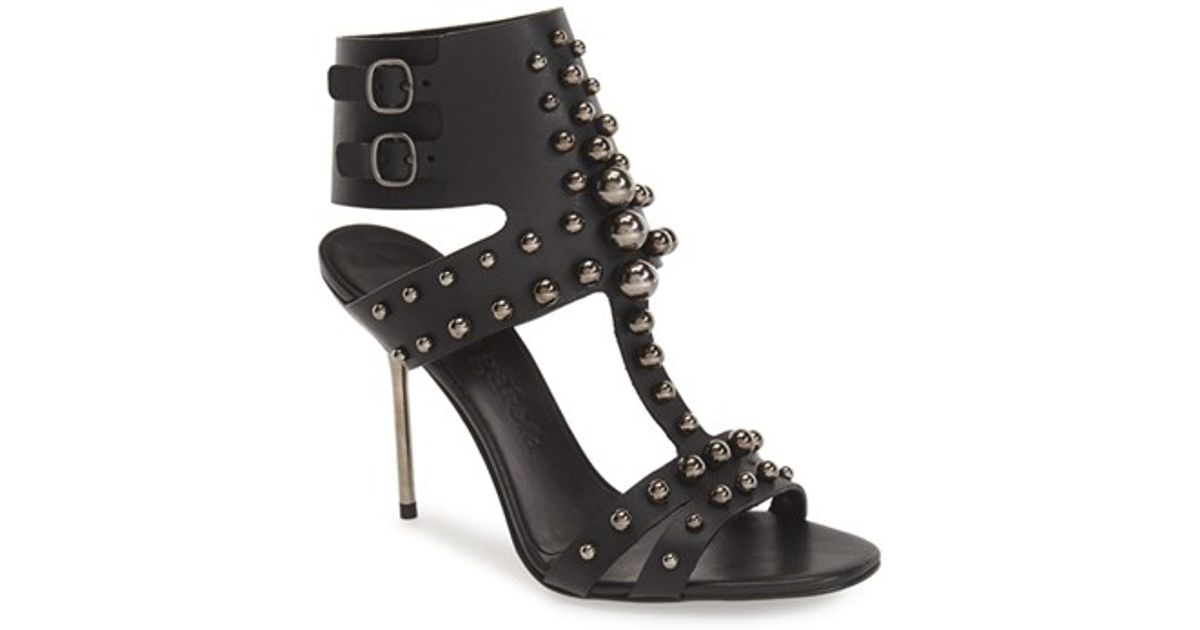 d794db410 Lyst - Pedro Garcia  Muriel  Ankle Cuff Sandal in Black