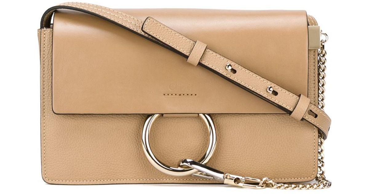 bfafd58450819 Chloé Faye Shoulder Bag in Natural - Lyst