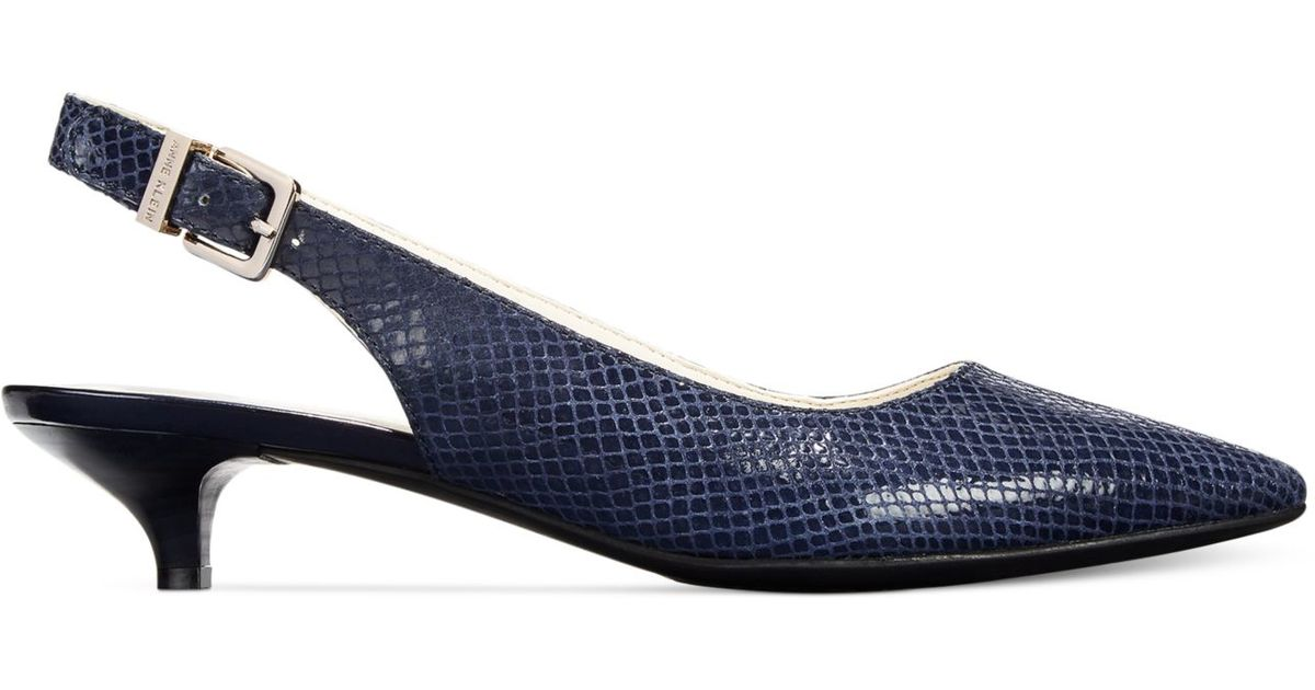 Lyst - Anne klein Expert Kitten Heel Pumps in Blue