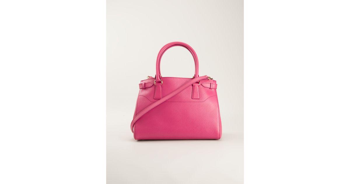 c76307def2d5 Lyst - Ferragamo Batik Tote in Pink