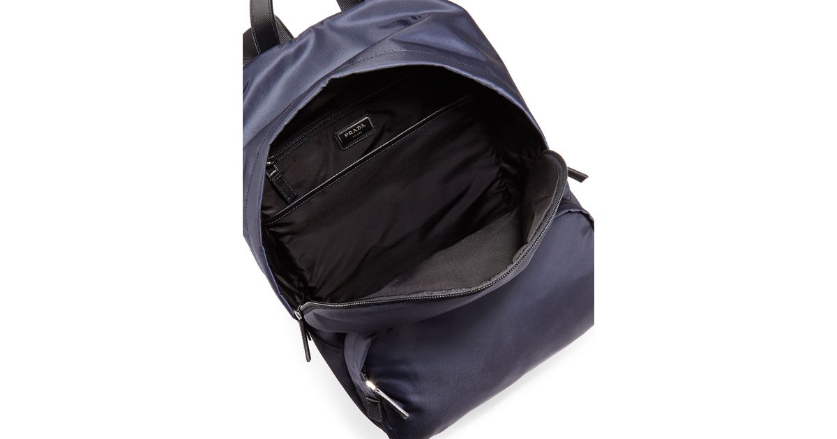 Prada Zaino Men\u0026#39;s Clean Nylon Backpack in Blue for Men | Lyst