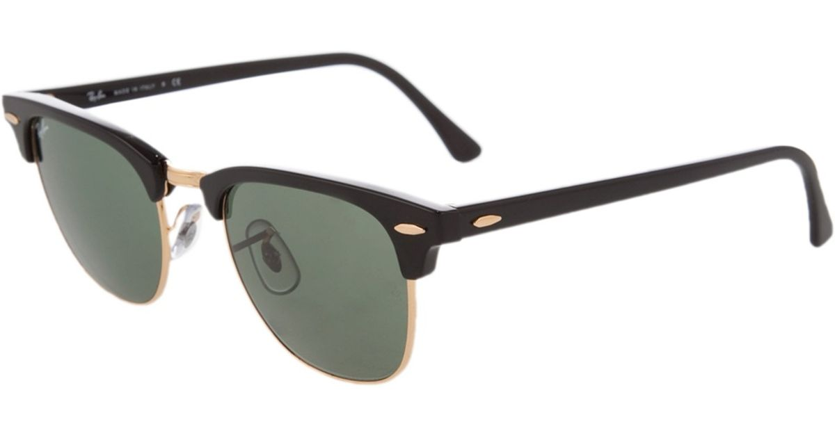 all black clubmaster sunglasses  Ray-ban \u0027clubmaster\u0027 Sunglasses in Black