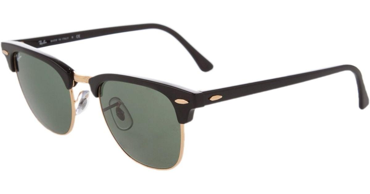 all black clubmaster sunglasses  Ray-ban \u0027clubmaster\u0027 Sunglasses in Black