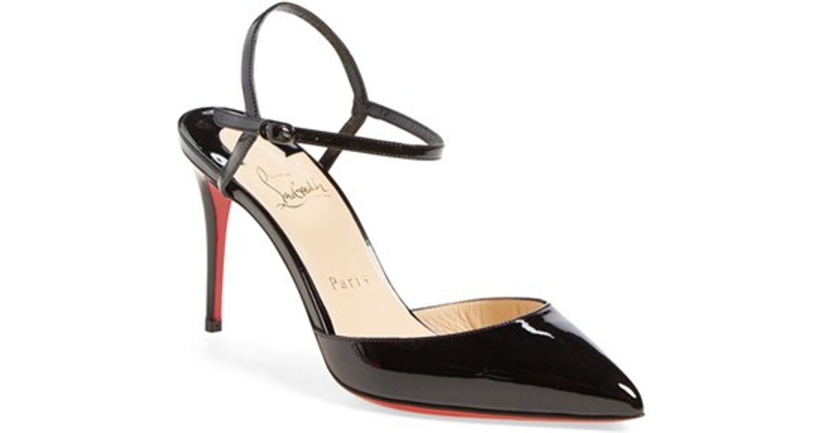 Christian louboutin Rivierina Patent Leather Pumps in Black (BLACK ...