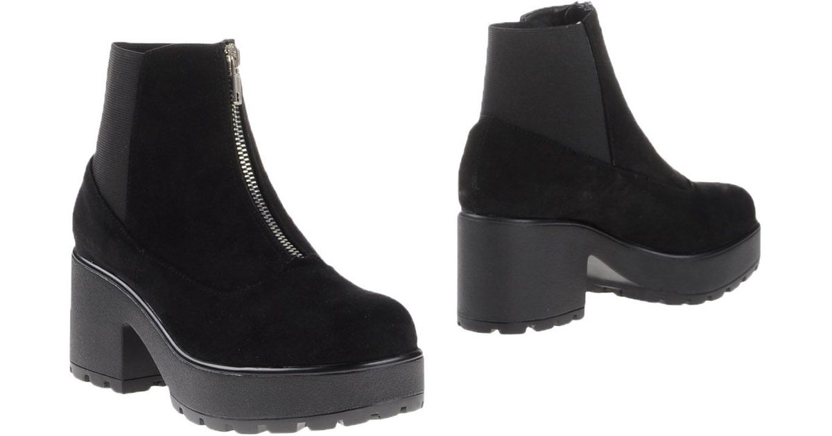topshop ankle boots in black lyst