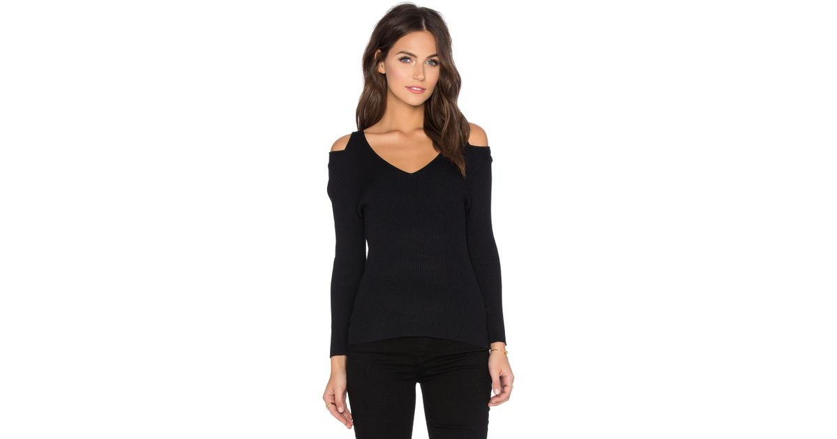 ede8ee741a Lyst - 525 America Open Shoulder Sweater in Black