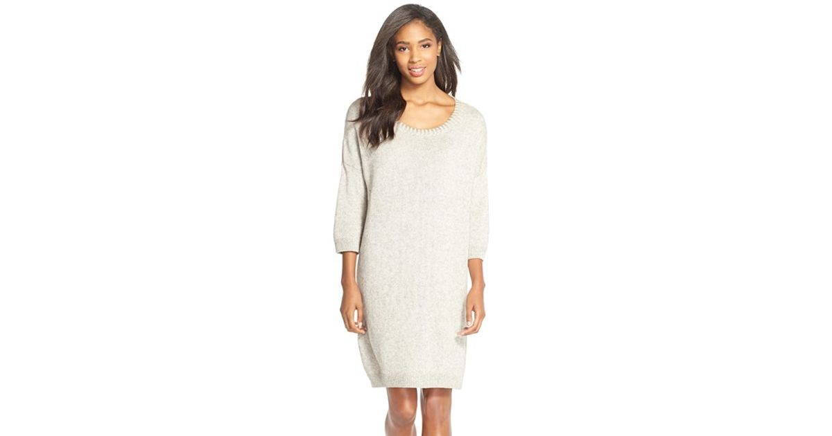 95ffe18aa5f French Connection Ruby Knitted Sweater Dress in Natural - Lyst