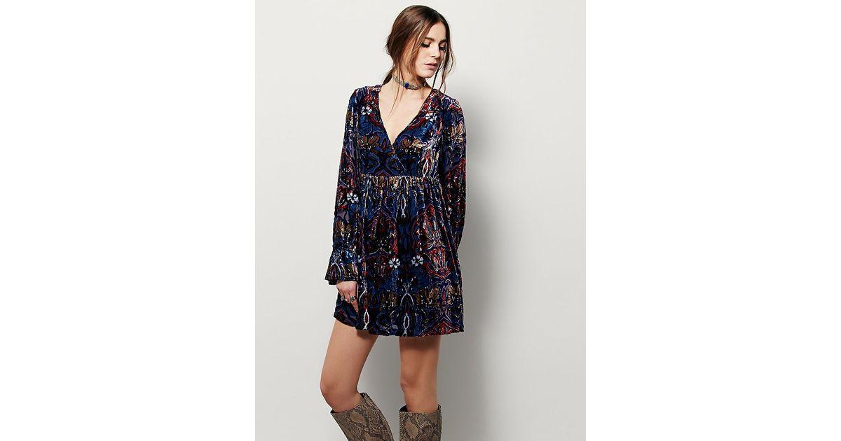 free womens mystic charm dress in blue lyst