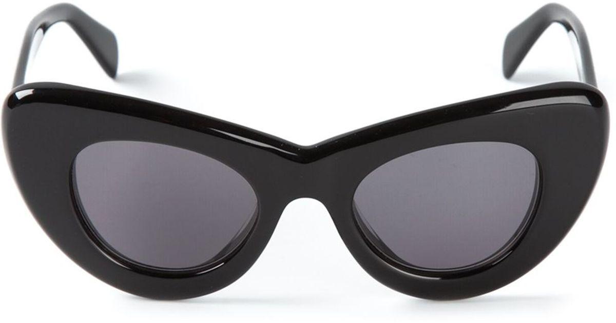 e3cb45b30a5 Lyst - Céline Cat Eye Sunglasses in Black