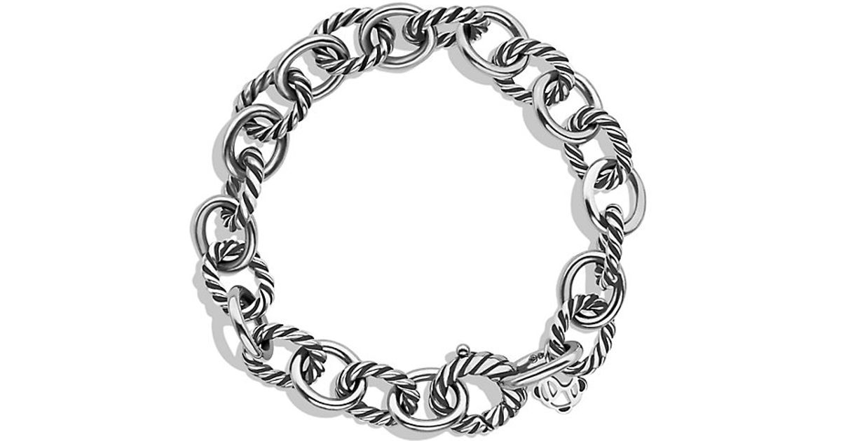 david yurman oval link bracelet david yurman oval link bracelet in metallic lyst 4076