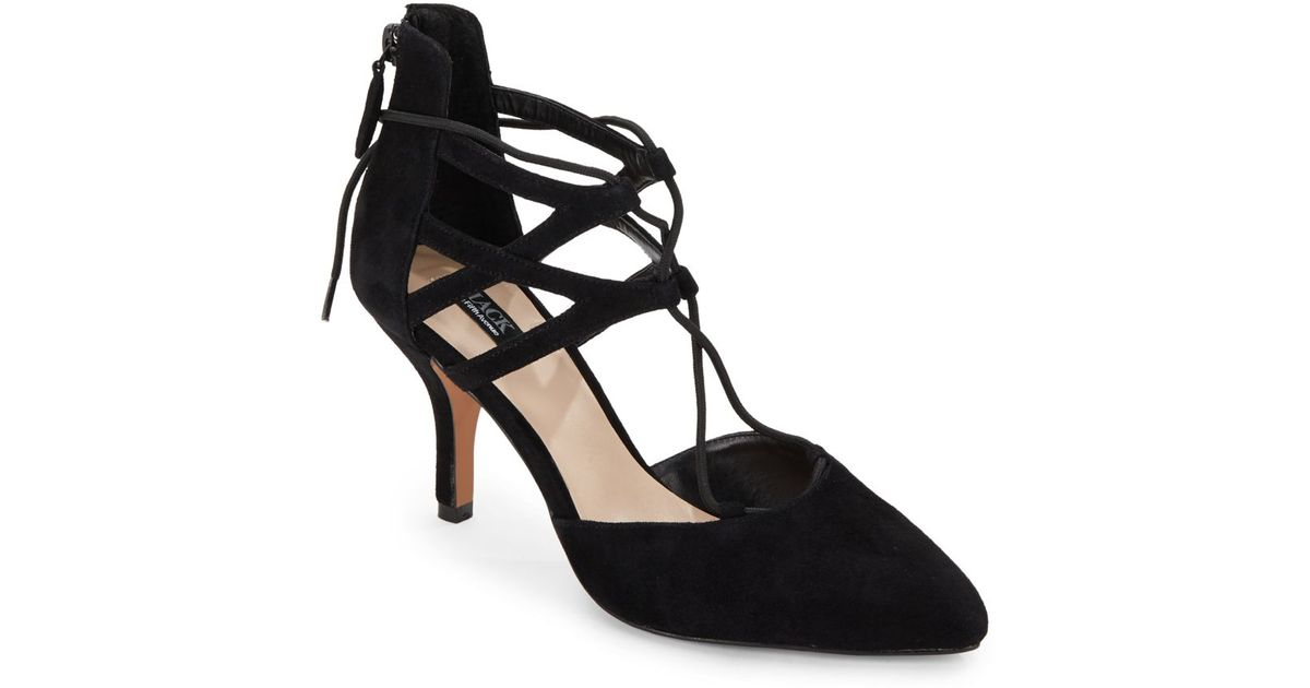 aca0db2530 Saks Fifth Avenue Gwen Suede Lace-up Pumps in Black - Lyst