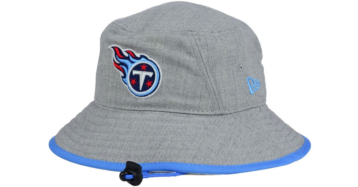 e18feacce3c ... coupon code for lyst ktz tennessee titans nfl heather gray bucket hat  in gray 52e30 85125