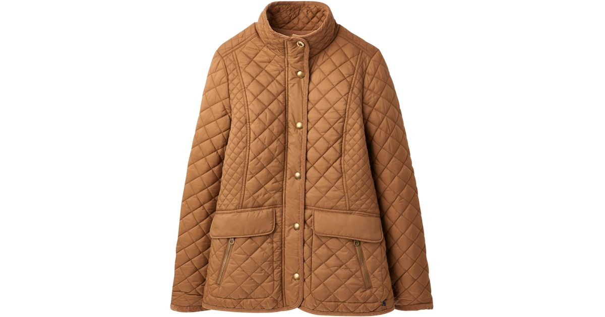 94686b42d9bb Joules Newdale Classic Quilted Jacket in Brown - Lyst