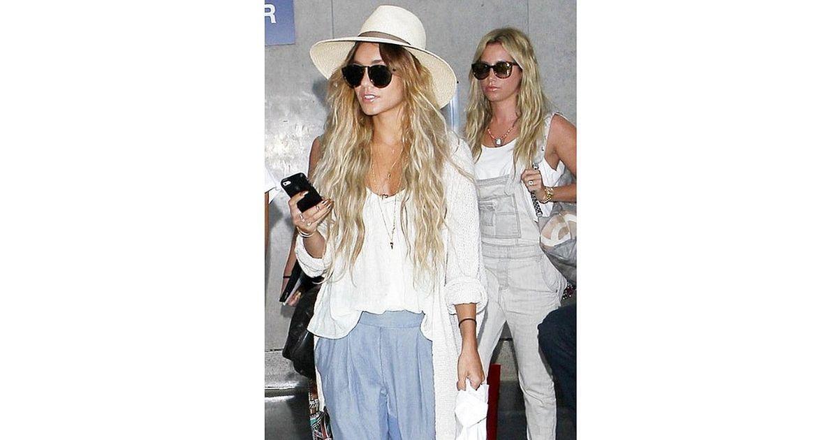 4ac697cd16a Janessa Leone Gloria Hat in Cream As Seen On Jessica Alba and Vanessa  Hudgens in White - Lyst