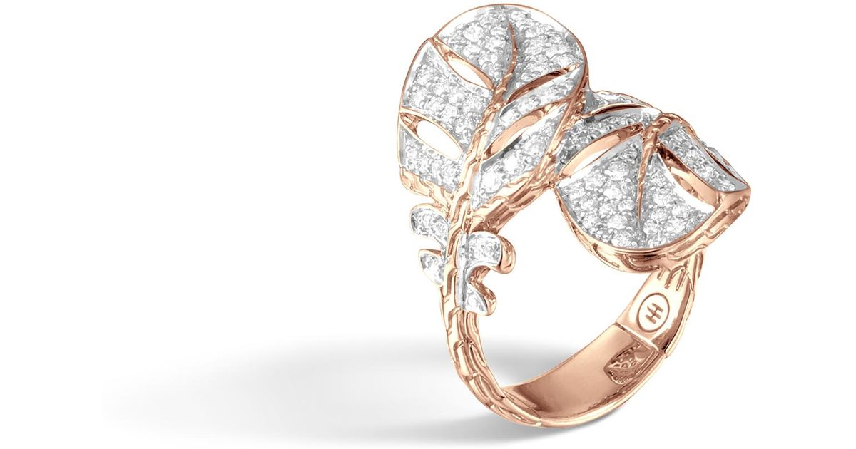 John Hardy Classic Chain Overlap Ring With Diamonds vNZpf