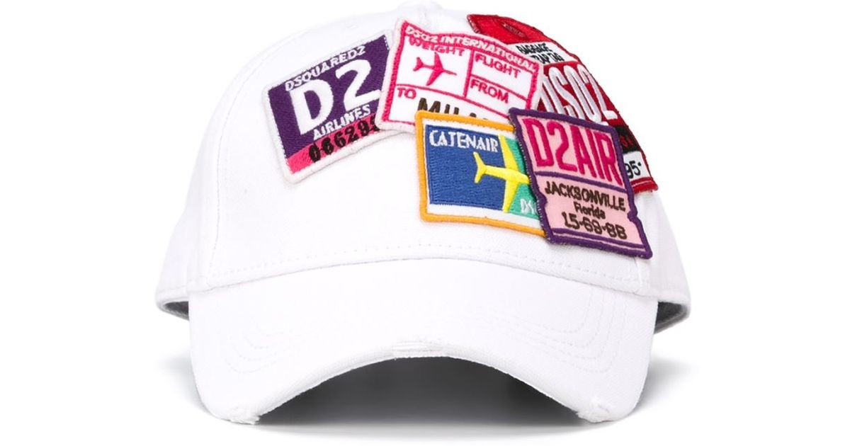 Lyst - DSquared² Logo Patch Baseball Cap in Pink for Men 01d5ad937878