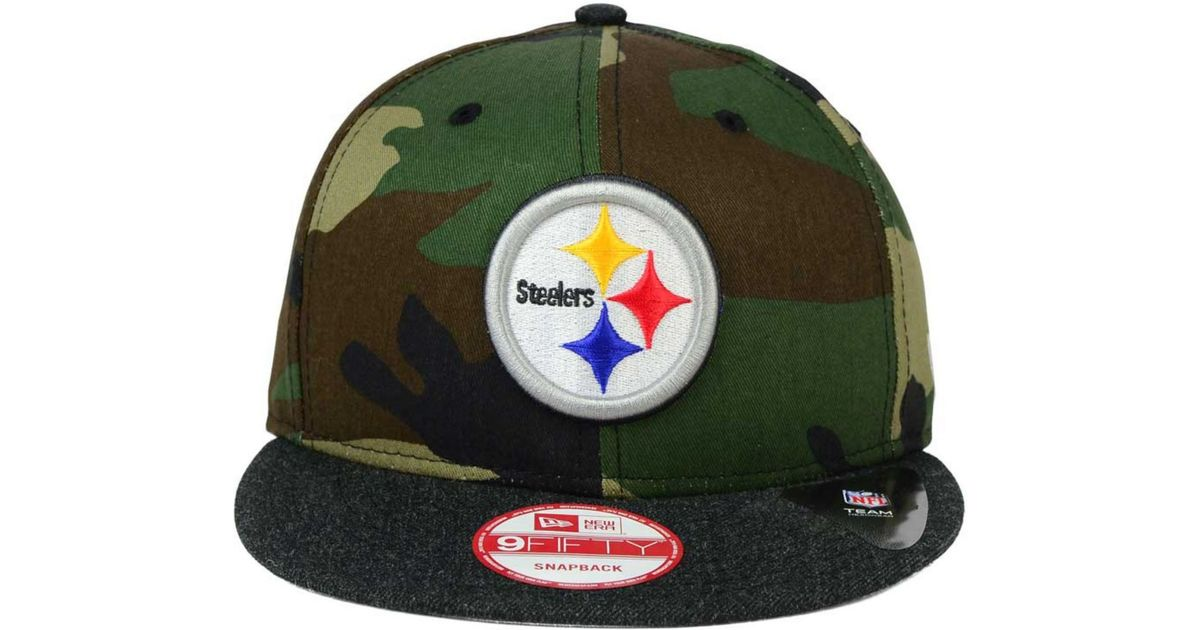 c8d5680a0b0 Lyst - KTZ Pittsburgh Steelers Camo Heather 9fifty Snapback Cap in Green  for Men