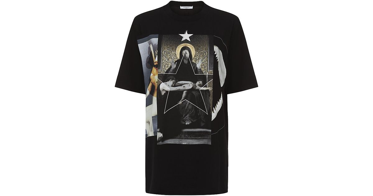 Givenchy Madonna And Shark T-shirt in Black - Lyst d5a19a0704