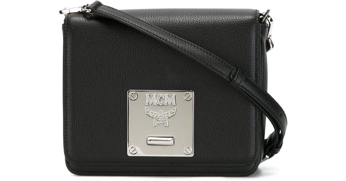 Lyst - MCM  mona  Crossbody Bag in Black b7cd5e31f