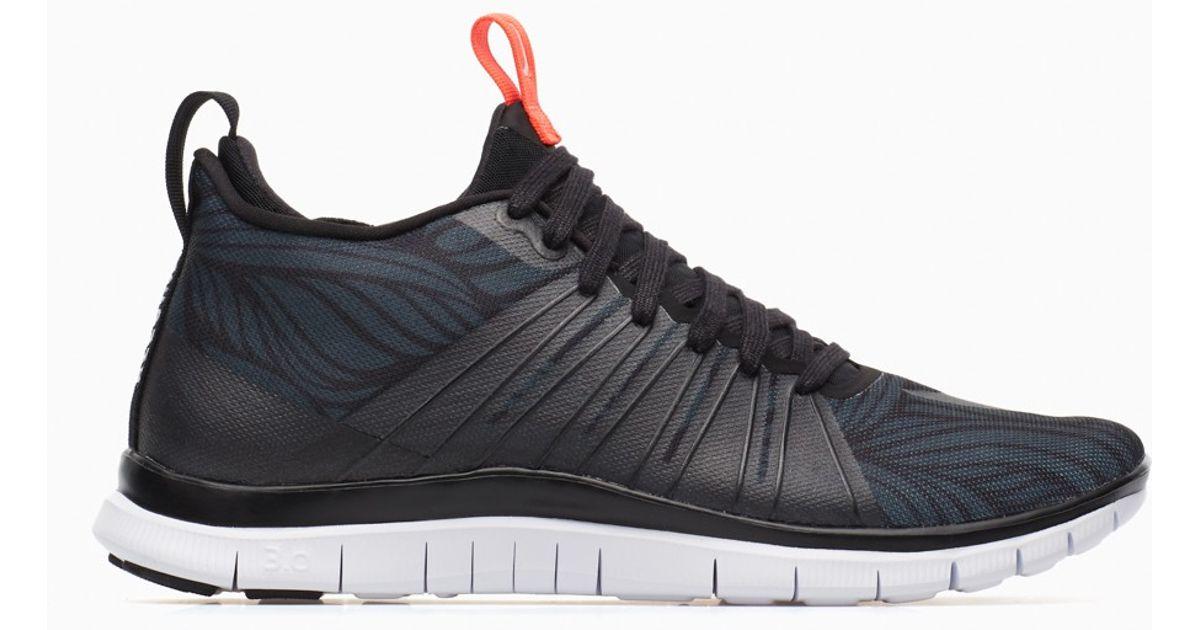 Hip Nike Free Hypervenom 2 Men Training Shoes Black White Black