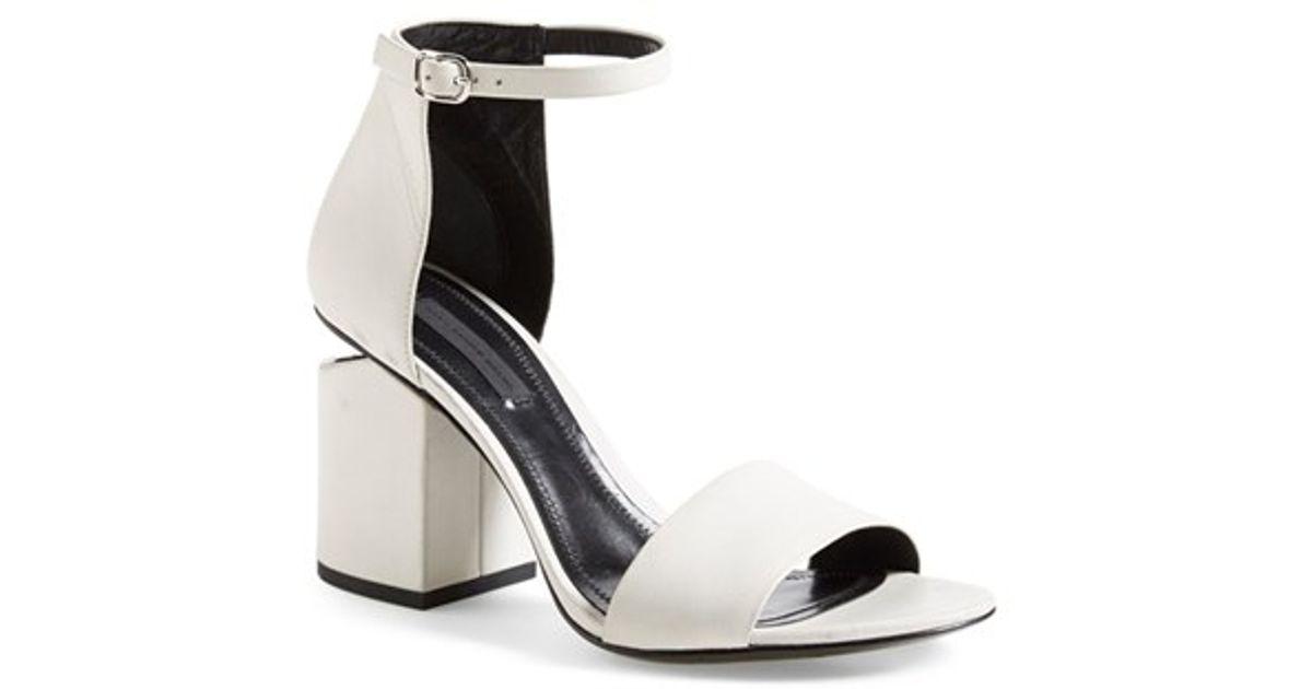 fb1da97a6d60 Lyst - Alexander Wang  abby  Ankle Strap Sandal in White