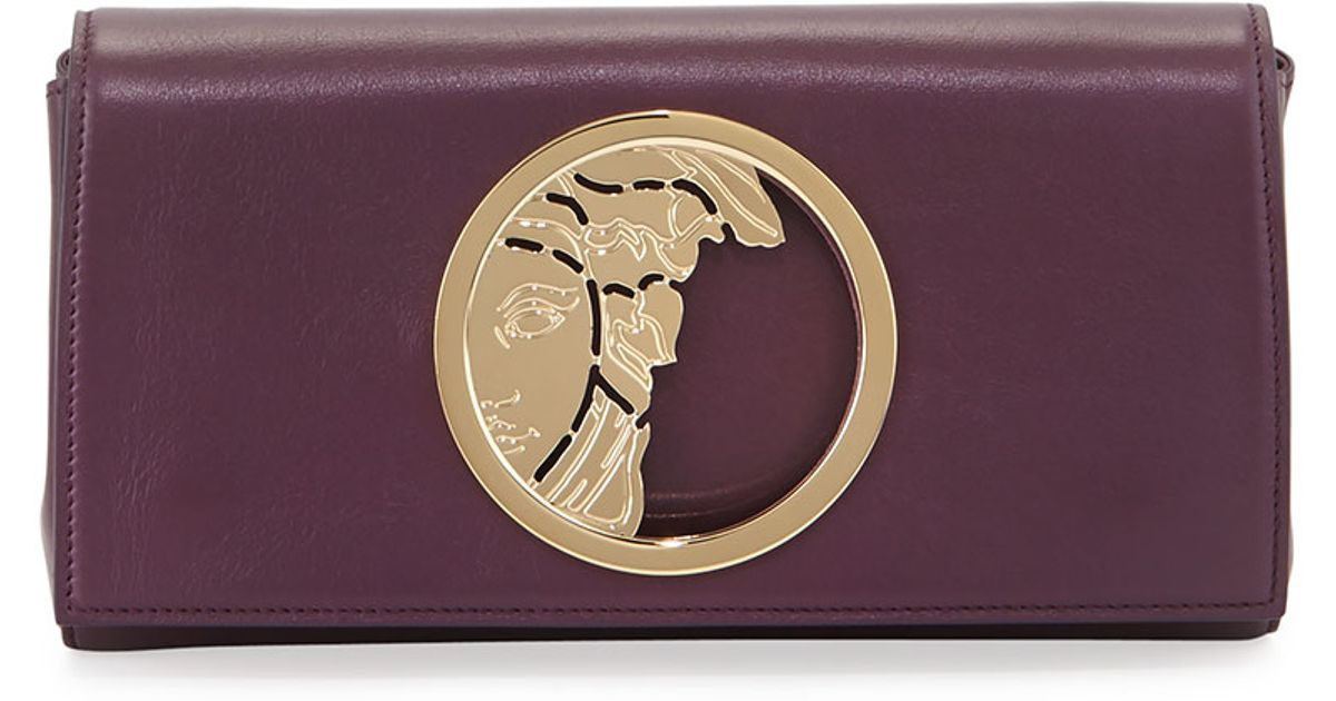 Cassandre Metallic Logo Clutch Bag, Argentinto Silver
