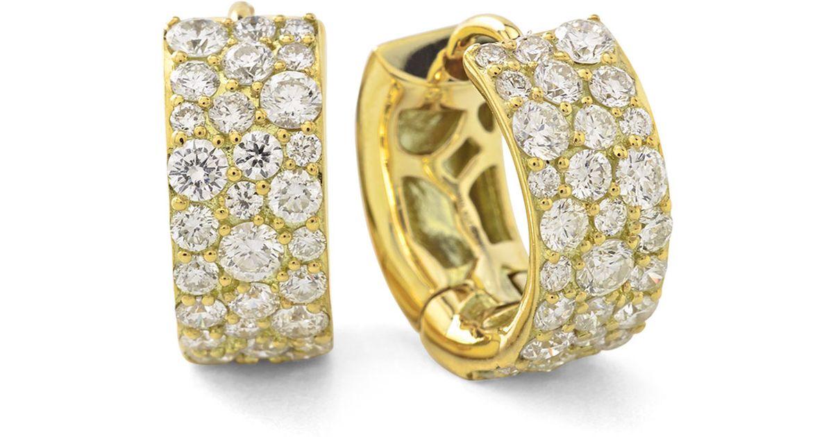 41f327857f111 Ippolita - Yellow 18k Glamazon Stardust Small Diamond Hoop Earrings - Lyst