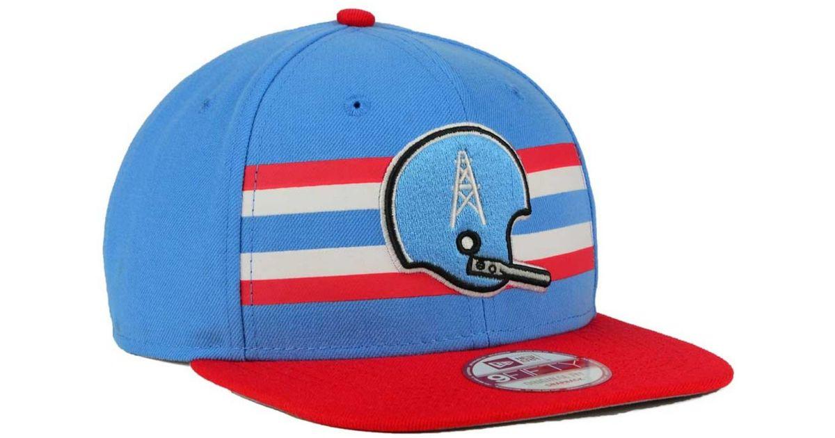 Lyst - KTZ Houston Oilers Retro Striped 9fifty Snapback Cap in Blue for Men 90b0c01be