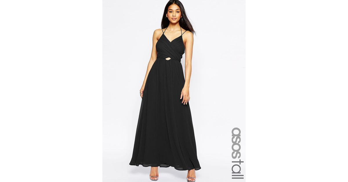 Asos Tall Halter Neck Maxi Dress With Cut Out Side