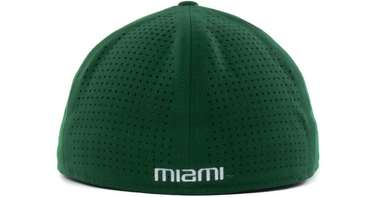 1eb6fad1c63 ... where to buy lyst nike miami hurricanes ncaa authentic vapor fitted cap  in green for men