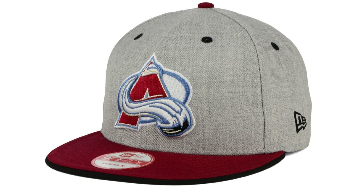 Lyst - KTZ Colorado Avalanche Heather 9fifty Snapback Cap in Red for Men b2d1b76cc6d