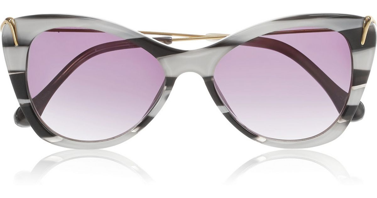 70355044bb Elizabeth And James Fillmore Cat Eye Sunglasses in Gray - Lyst
