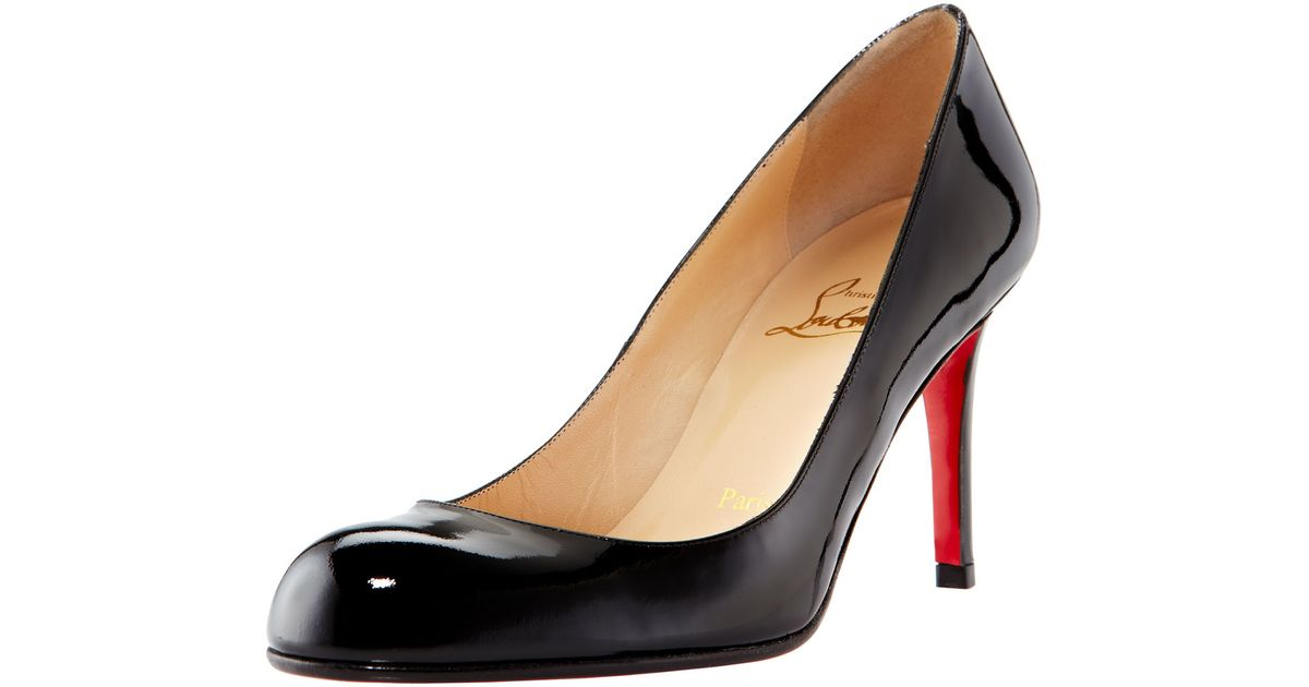 3770c381cb5f Lyst - Christian Louboutin Black Patent Calfskin  demi You 100  D orsay  Pumps in Black