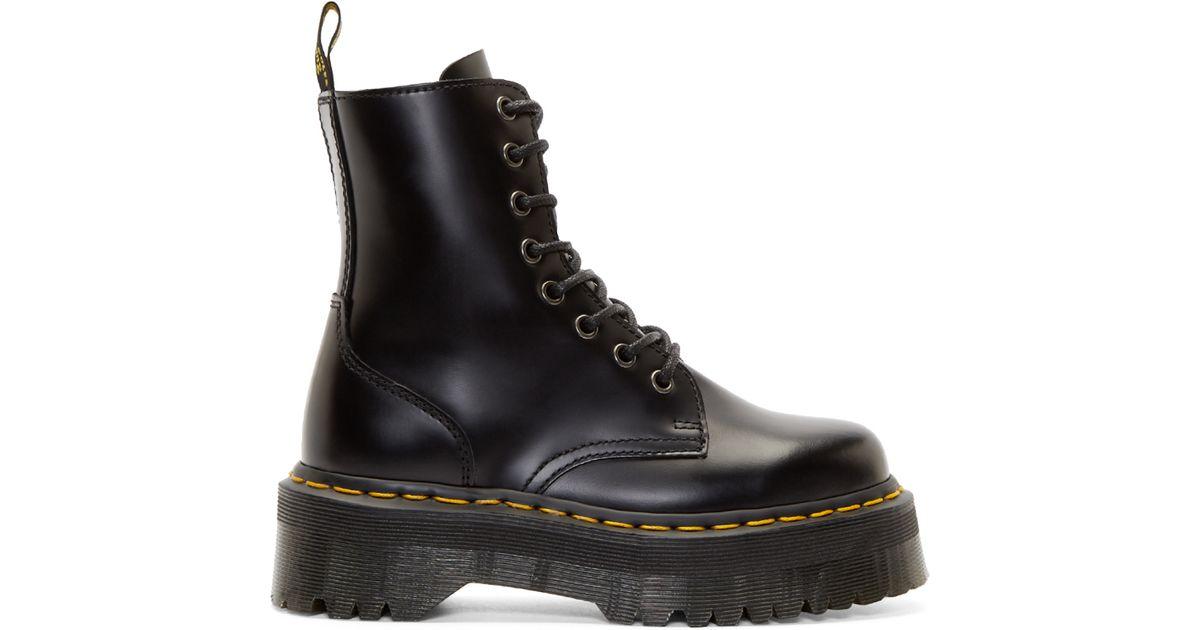 9fd78c28f92 Lyst - Dr. Martens Black Platform 8 eye Jadon Boots in Black for Men