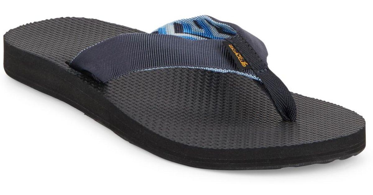 Teva Classic Flip Flops In Black For Men Azure  Lyst-6866