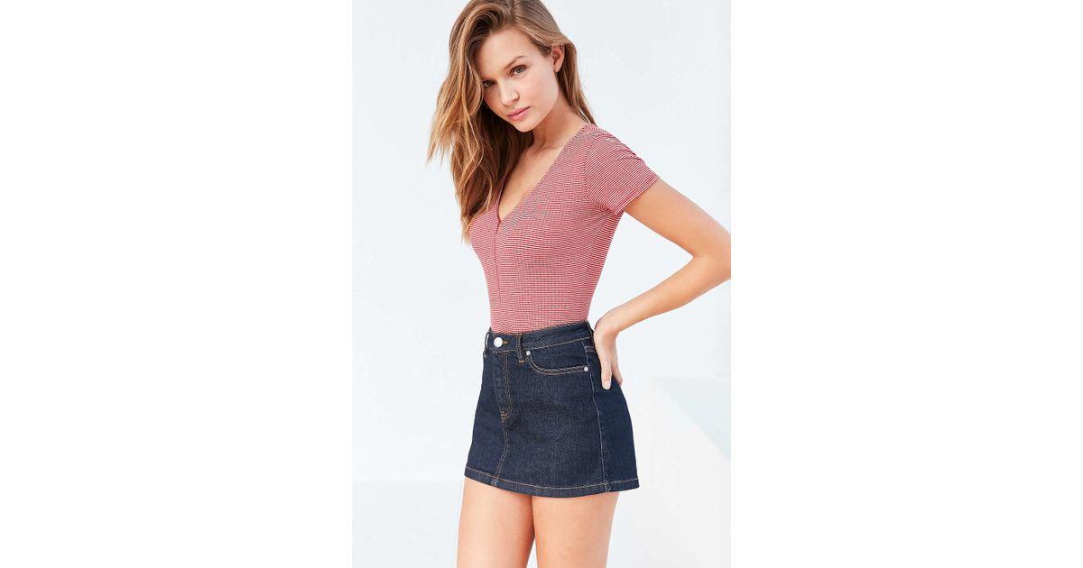 15103ac40 BDG Colette Denim Micro Mini Skirt in Blue - Lyst