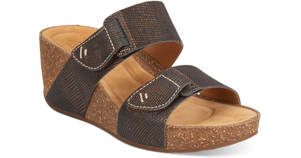 f599def02b486 Lyst - Clarks Artisan Women S Temira East Platform Wedge Sandals in Metallic