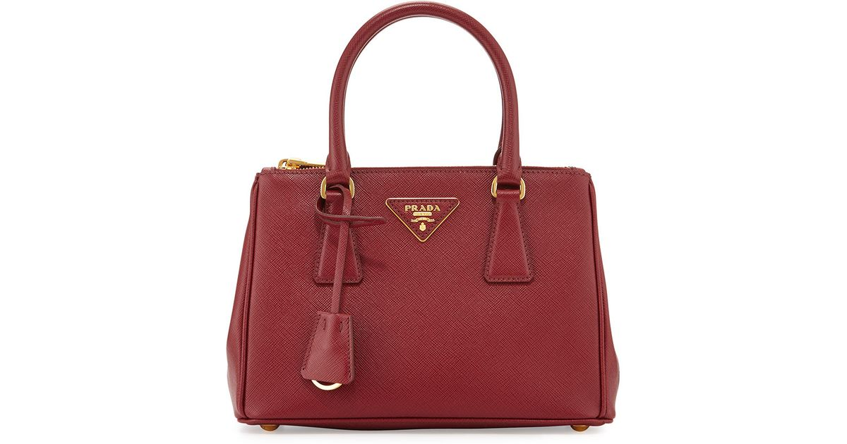 682fb203264b Lyst - Prada Saffiano Baby Executive Tote Bag With Strap in Red