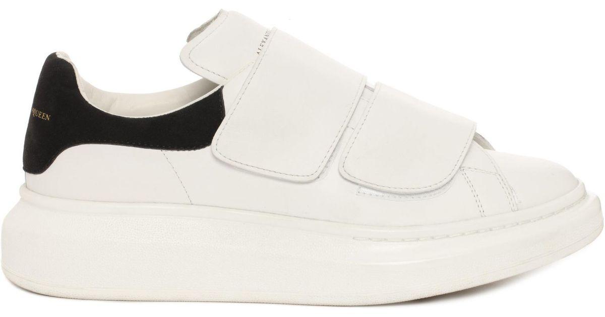 7e7799c11b86 Lyst - Alexander McQueen Velcro Strap Oversized Sneaker in White