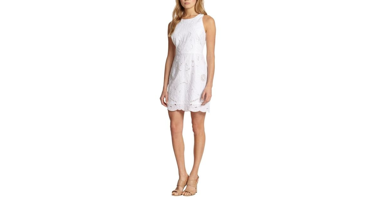 Milly claudia lace sheath dress