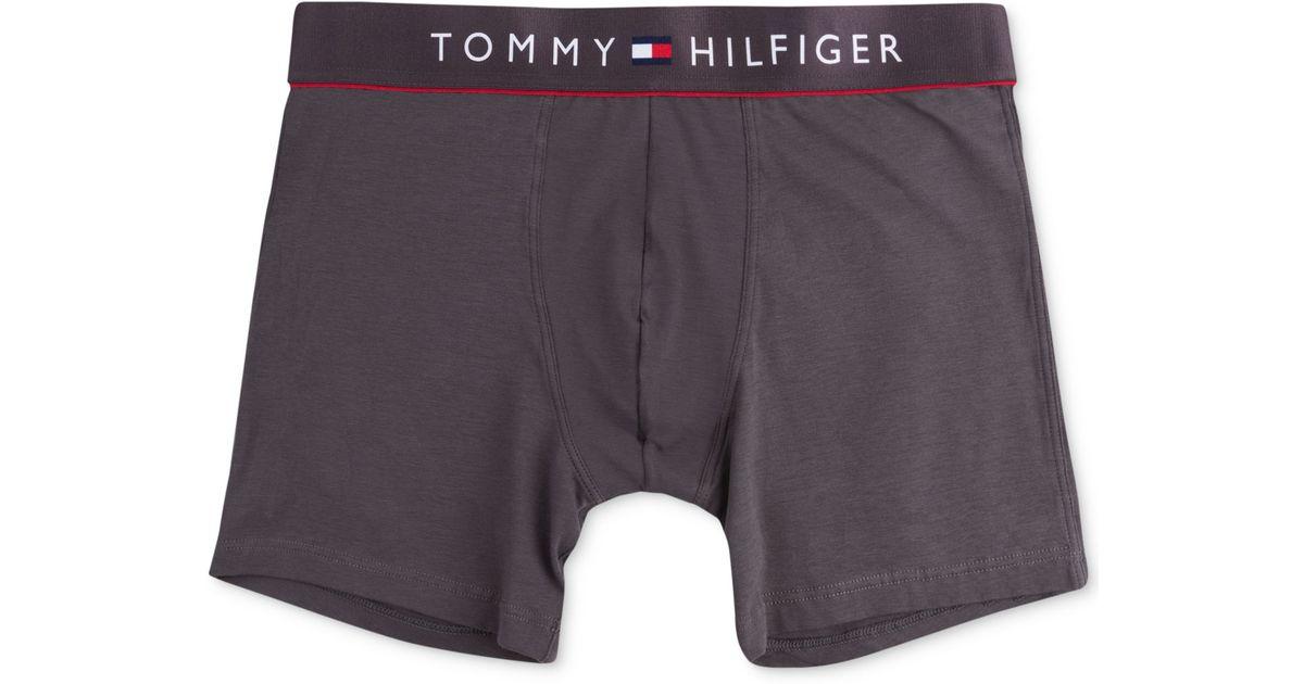 tommy hilfiger cotton flex boxer briefs 09t2771 in gray for men. Black Bedroom Furniture Sets. Home Design Ideas