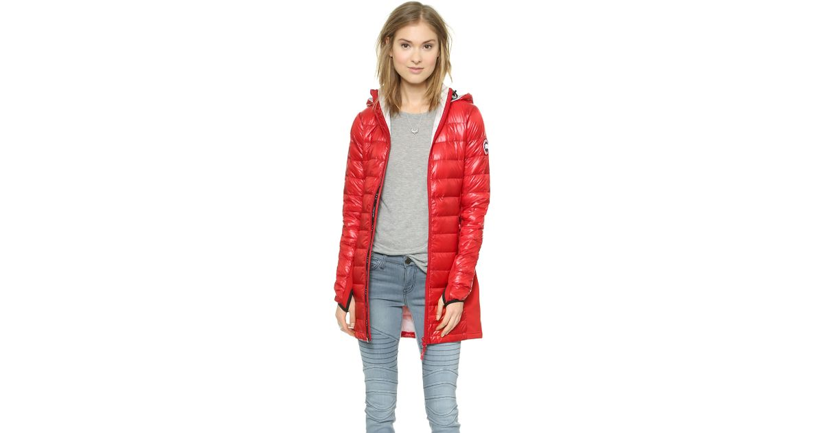 Canada Goose montebello parka online price - Canada goose Hybridge Lite Jacket - Red in Red | Lyst