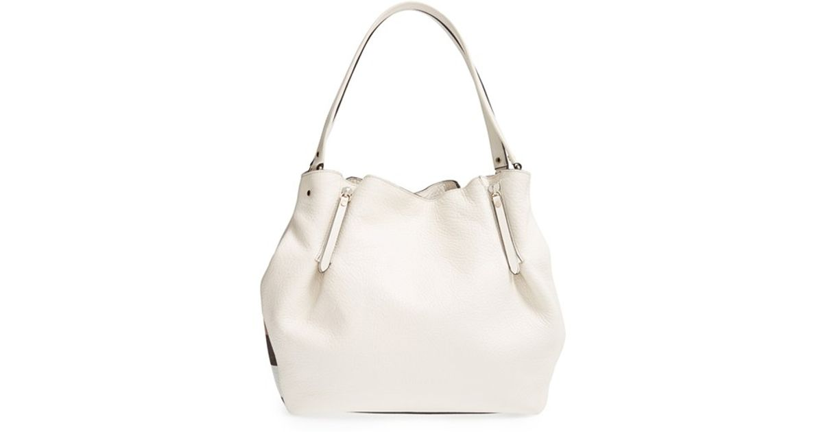 3899ba6dd1d0 Lyst - Burberry  medium Maidstone  Leather Tote in White