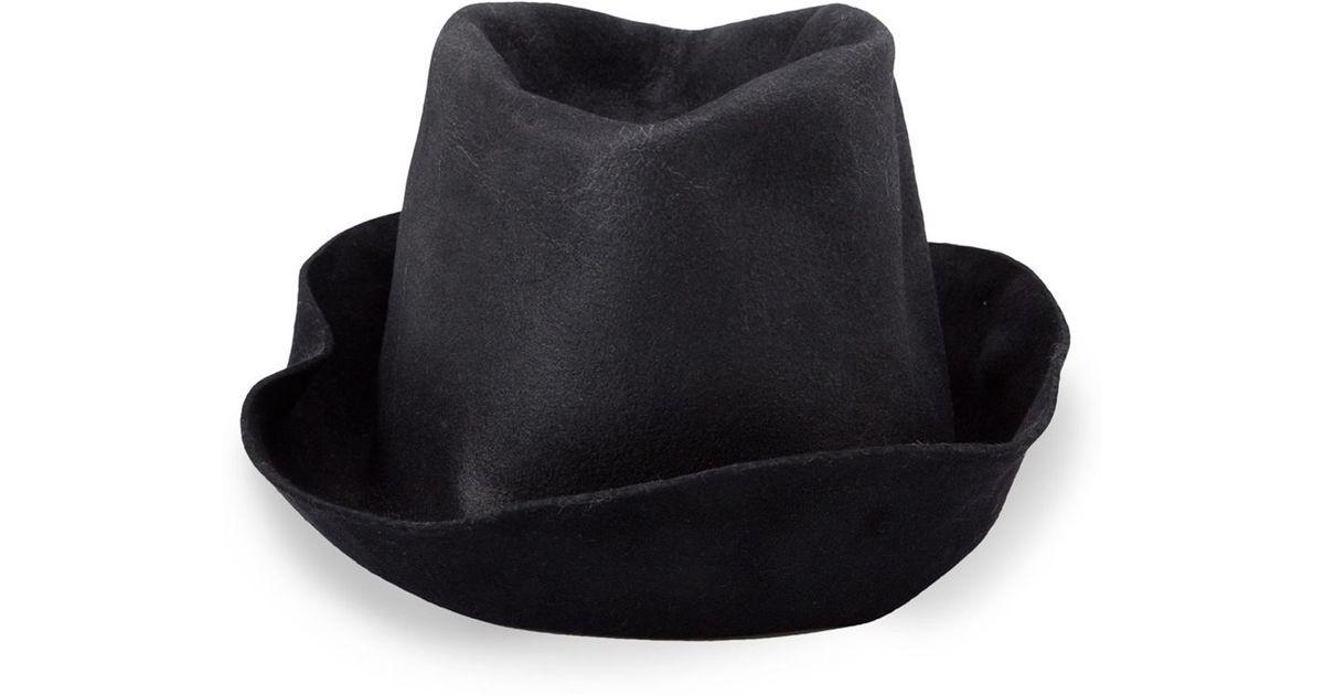 Reinhard Plank Creased Hat in Black for Men - Lyst 5e88494809ad