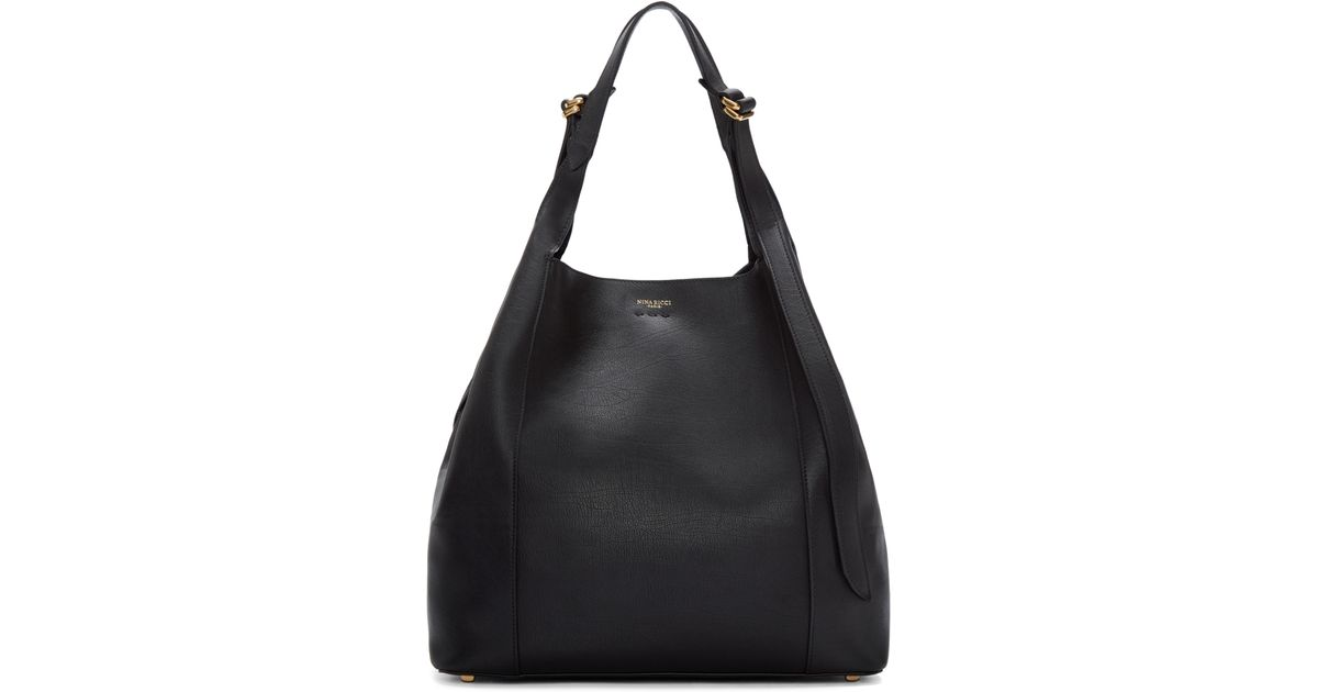 22e298c489 Lyst - Nina Ricci Black Leather Large Faust Tote in Black